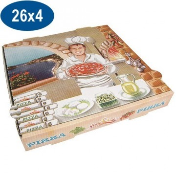 BTE PIZZA 26X26X4 SUPER PPT (X100)
