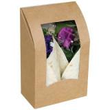 Boîte Wraps en kraft brun avec fenêtre 150x95x53