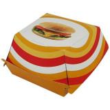 Boîte hamburger carton décor 97x97x70 mm