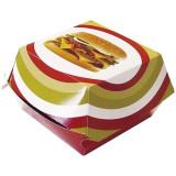 Boîte hamburger carton décor 100x100x80 mm