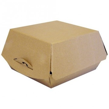 BTE HAMBURGER SUPREME CARTON M-CANNEL KR BRUN IN 110X104X75 (X600)