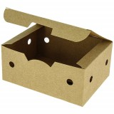Boîte nuggets carton kraft brun 140x102x61 mm