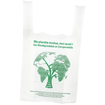 Sac bretelle biodégradable 26x6x45 cm