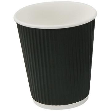 Gobelet noir en carton ondulé 27cl double parois