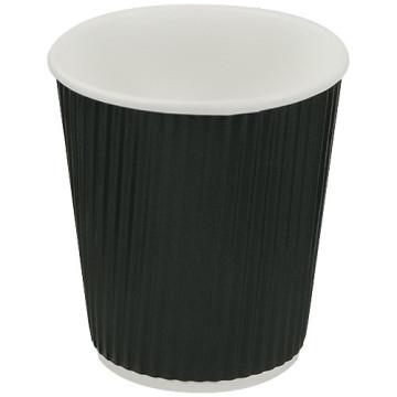 Gobelet noir en carton ondulé 17cl double parois
