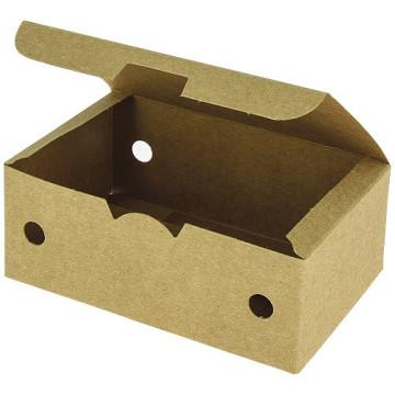 Boîte nuggets carton kraft brun 114x73x45 mm